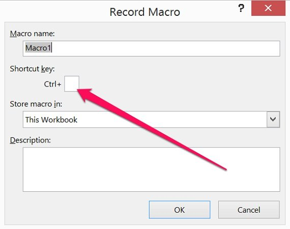How to assign keyboard shortcut to recorded macro