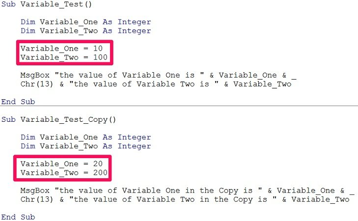 vba assign date to variable