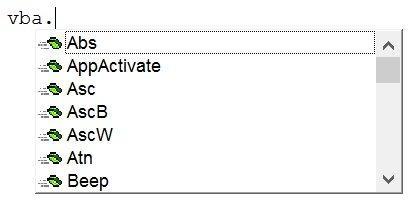 Example of VBA built-in functions