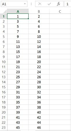 Cell_Index assignment with a cell range