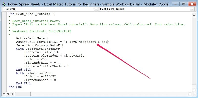excel macro function tutorial