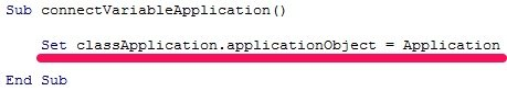 Set classApplication.applicationObject = Application