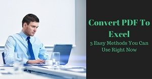 Excel Tutorial about how to convert PDF to Excel