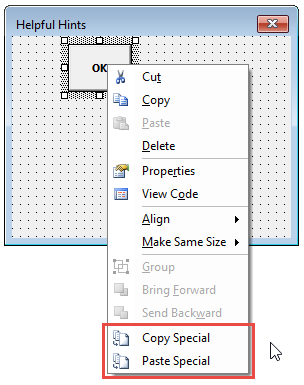 Copy and paste UserForm controls and associated code