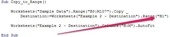 Example of macro to copy and paste with change in destination