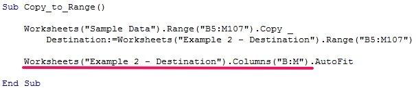 Excel VBA Copy Paste macro example with AutoFit