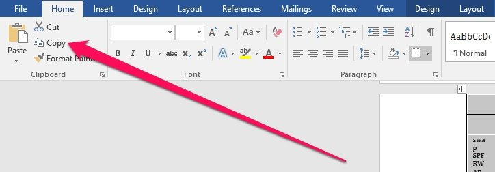 Copy text from PDF in Word