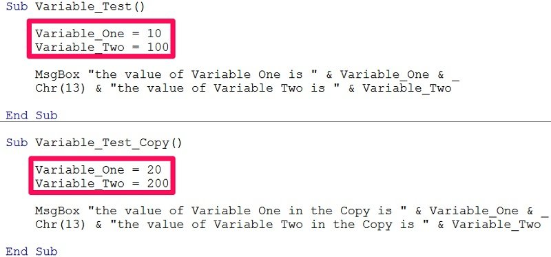 Printables Vba Sample Declaration Of Multiple Choice Worksheet Pdf define variables in vba declare and assign them expressions how to a variable implicitly vba