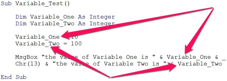 Declared VBA variable