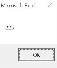 Result of Excel VBA Function procedure