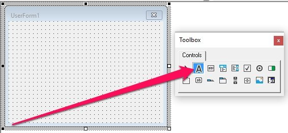 Double-click on Toolbox control
