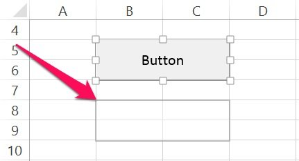 How to drag a VBA Sub procedure button in Excel