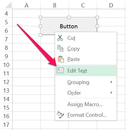 How to edit text of VBA Sub procedure button