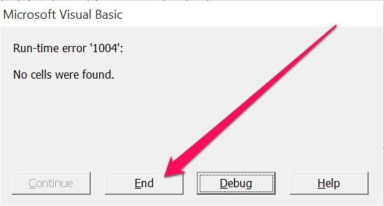 how to clear variables in vba