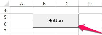 Large VBA Sub procedure button in Excel