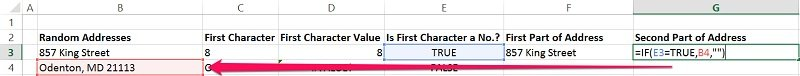 Example of reference that would be eliminated when deleting blank rows
