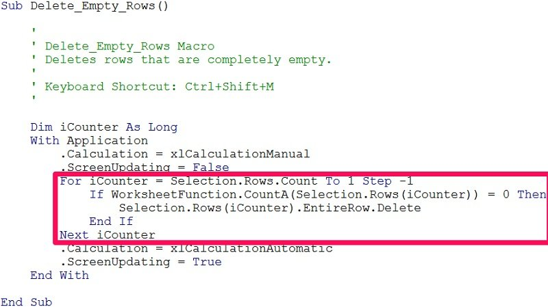 Excel VBA Delete Blank Or Empty Rows 5 EasyToUse Macro Examples – Blank Keyboard Worksheet