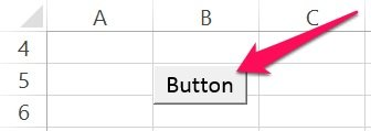 VBA Sub procedure button in Excel