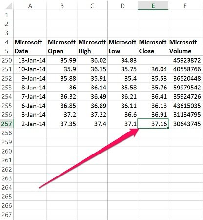 Example of last cell in range for Excel macro