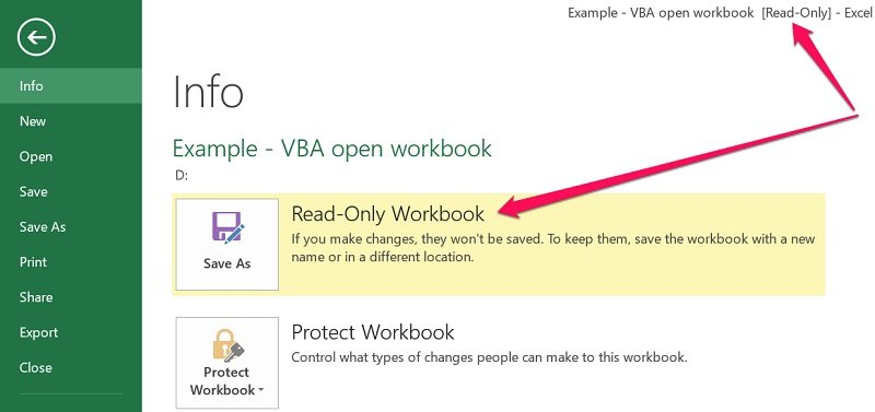 excel open workbook read only