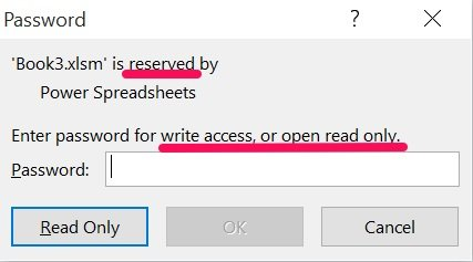 Password dialog for WriteResPassword generated by VBA