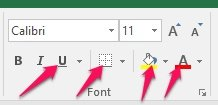 Simple buttons within split buttons in Excel Ribbon