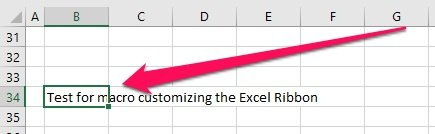 Excel worksheet to test custom Excel Ribbon