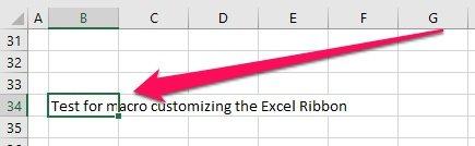 Excel worksheet to test custom Excel Ribbon