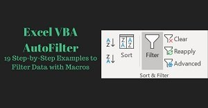 Step by Step Examples to Filter Data with Macros