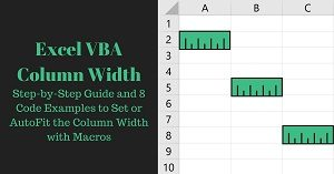 Excel VBA Tutorial about Column Width Setting or Autofitting