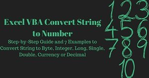 Excel VBA Tutorial about how to convert string to number with macros