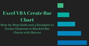 Excel VBA Tutorial about how to create bar charts with macros