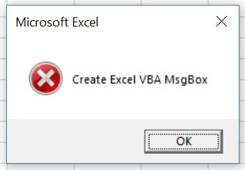 Macro creates MsgBox with critical style icon