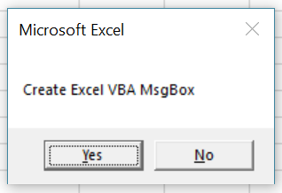 Macro creates MsgBox where first button is default