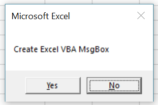 Macro creates MsgBox where second button is default