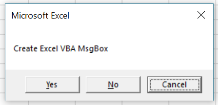 Macro creates MsgBox where third button is default