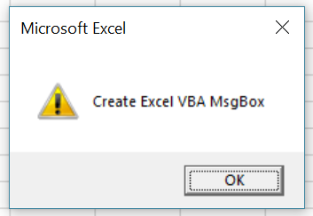 Macro creates MsgBox with exclamation style icon