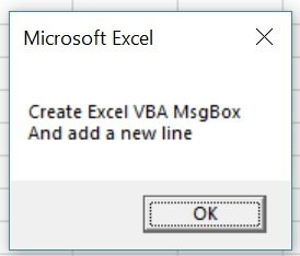 Macro creates MsgBox with multiple lines