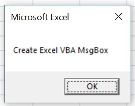 Macro creates MsgBox with OK button