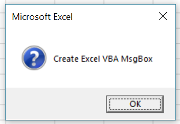 Macro creates MsgBox with question style icon