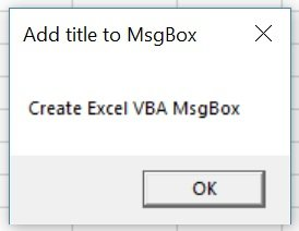 Macro creates MsgBox with title