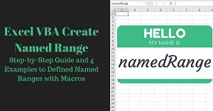 Excel VBA Tutorial about creating named ranges with macros