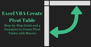 Excel VBA Tutorial about how to create Pivot Table with macros
