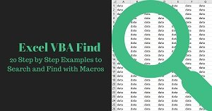 20 Step by Step Examples to Search and Find with Macros