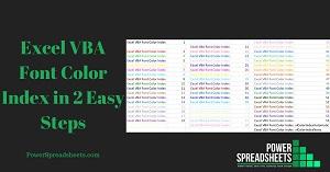 Excel VBA Font Color Index in 2 Easy Steps (+ Free Easy-To-Adjust Excel Workbook Example, including the VBA Color Palette)