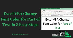 Excel VBA Change Font Color for Part of Text in 8 Easy Steps (+ Free Easy-To-Adjust Excel Workbook Example)