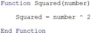 Excel VBA Function example