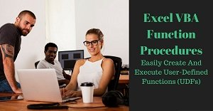 Excel VBA Tutorial about User-Defined Functions