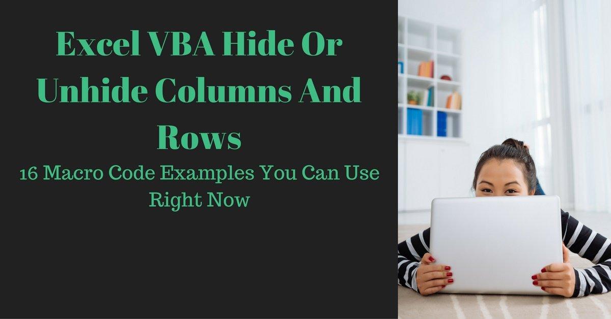 Excel VBA Hide Or Unhide Columns And Rows 16 Macro Examples – Excel Vba Hide Worksheet