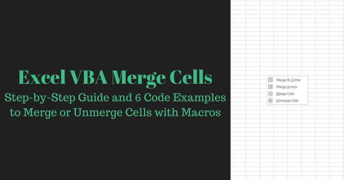 excel vba merge cells  step
